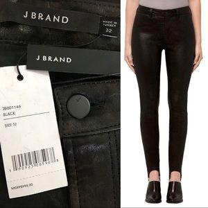 J Brand Maria Leather Stirrup Leggings Pants Moto
